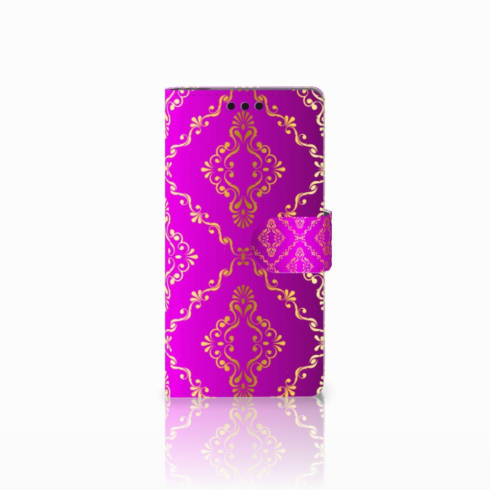 Sony Xperia M4 Aqua Uniek Boekhoesje Barok Roze