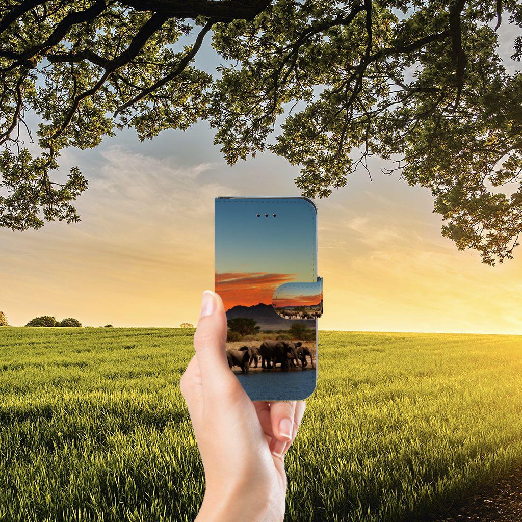 iPhone 7   8   SE (2020) Telefoonhoesje met Pasjes Olifanten