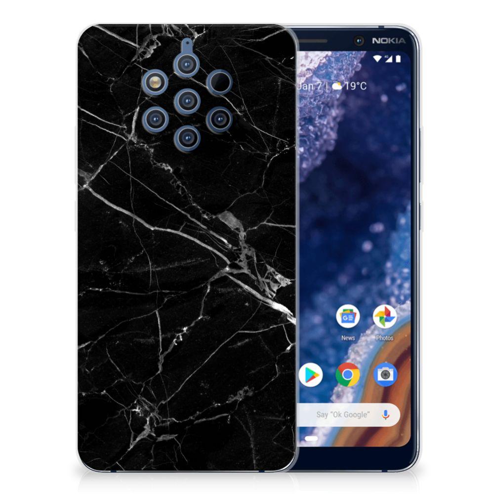 Nokia 9 PureView TPU Siliconen Hoesje Marmer Zwart