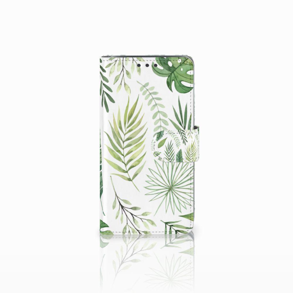 Samsung Galaxy J5 (2015) Uniek Boekhoesje Leaves