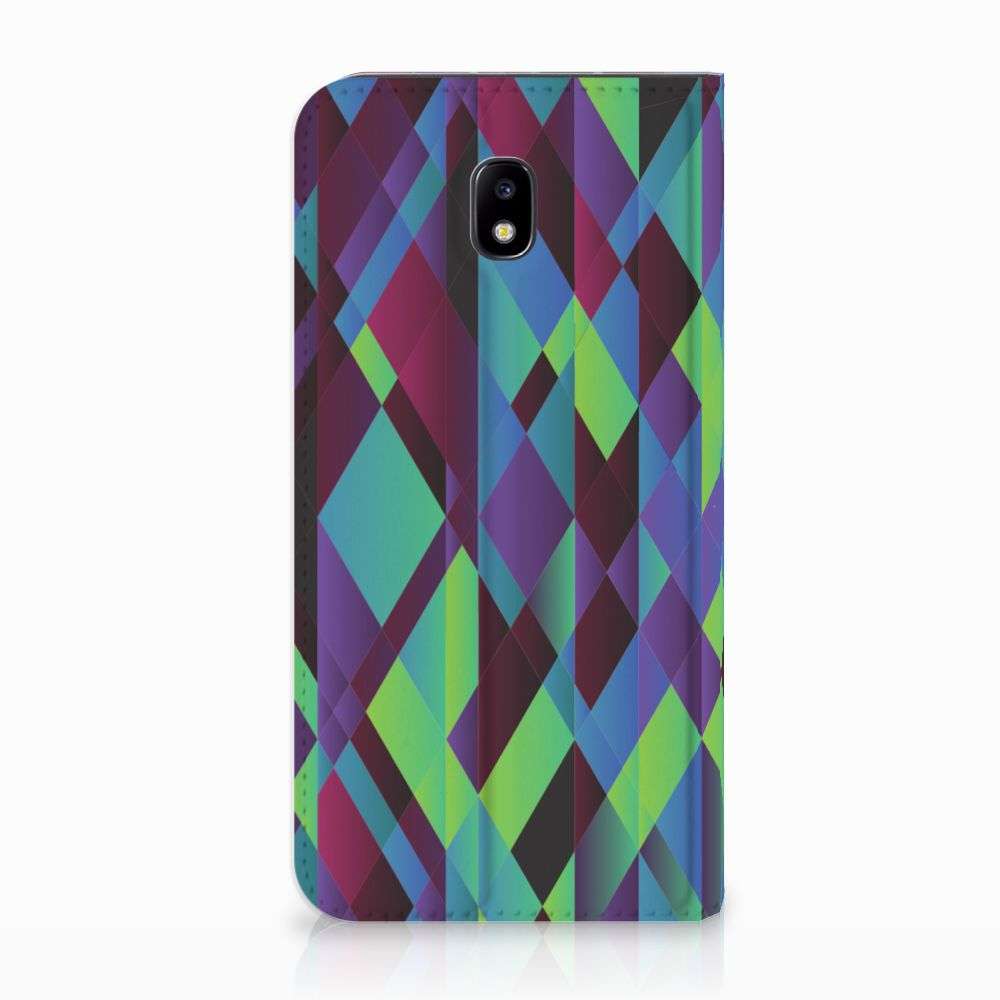 Samsung Galaxy J5 2017 Stand Case Abstract Green Blue