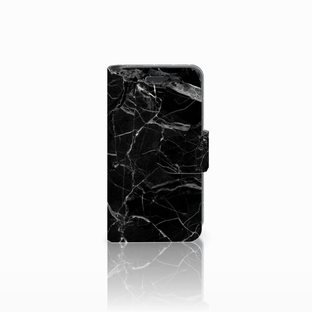 Nokia Lumia 520 Boekhoesje Marmer Zwart