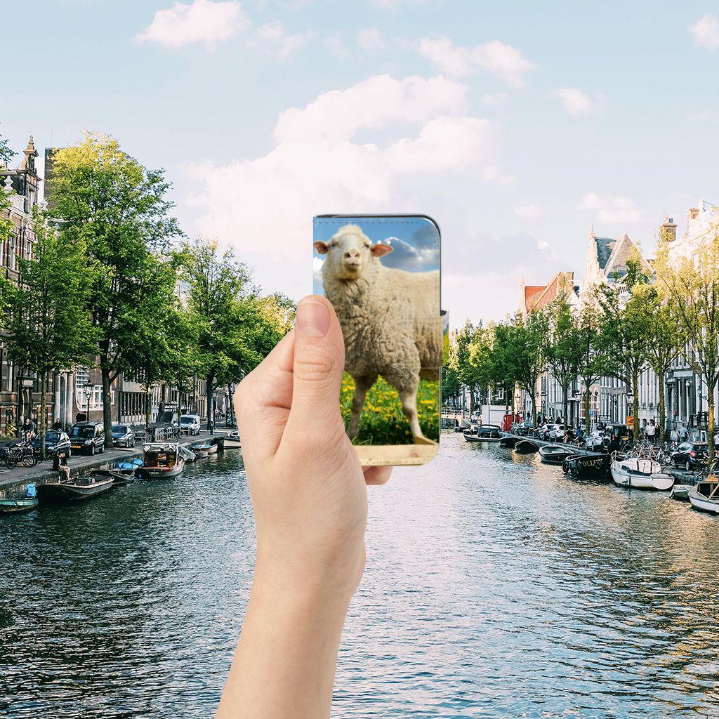 Apple iPhone 5 | 5s | SE Telefoonhoesje met Pasjes Schaap en Lammetje