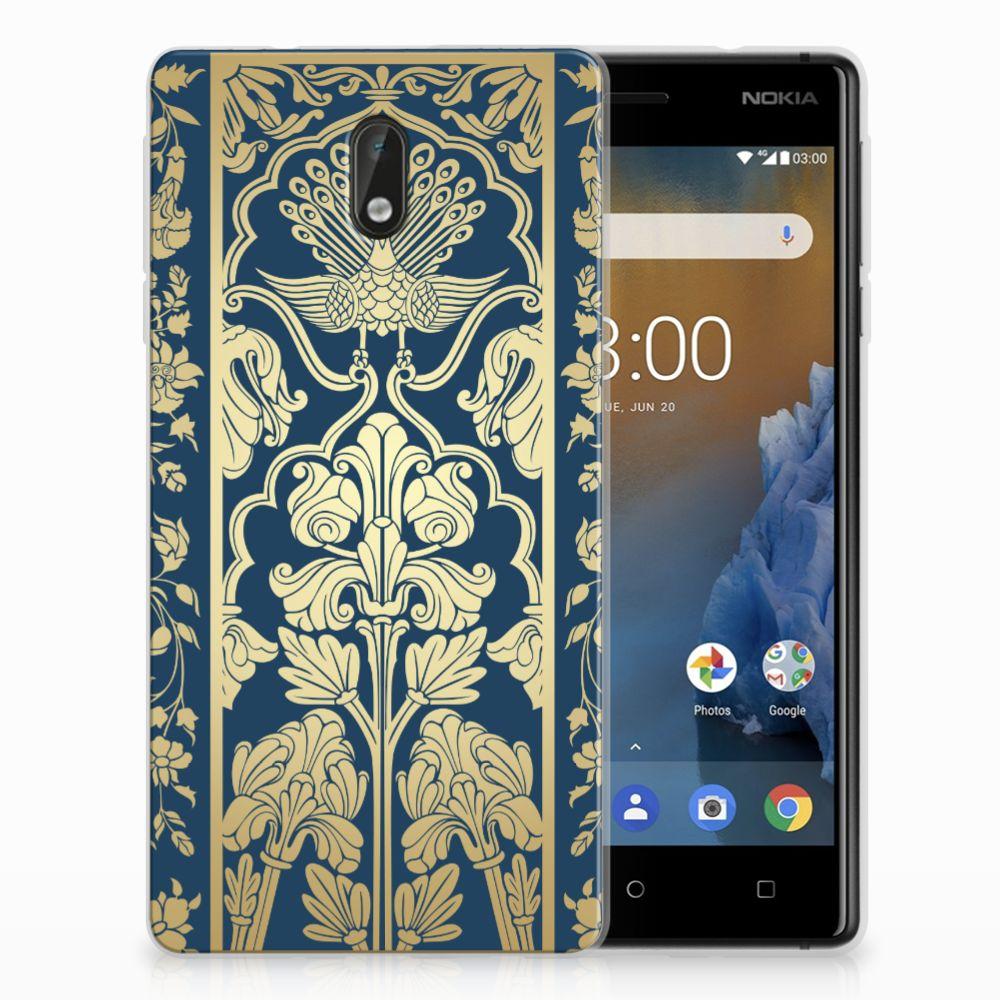 Nokia 3 TPU Case Golden Flowers