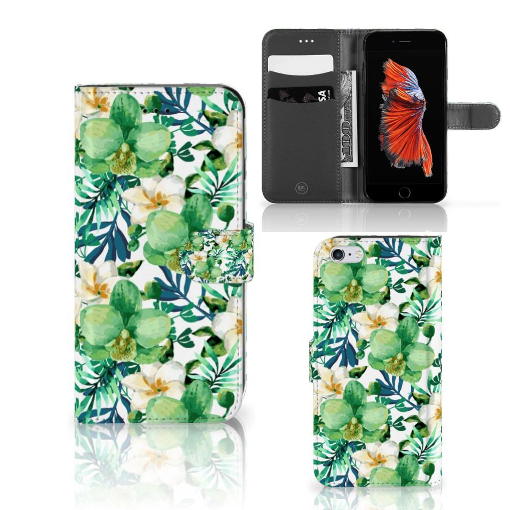 Apple iPhone 6 Plus | 6s Plus Hoesje Orchidee Groen