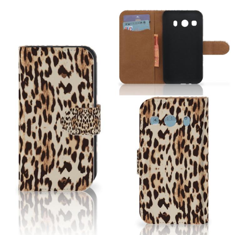 Samsung Galaxy Ace 4 4G (G357-FZ) Telefoonhoesje met Pasjes Leopard