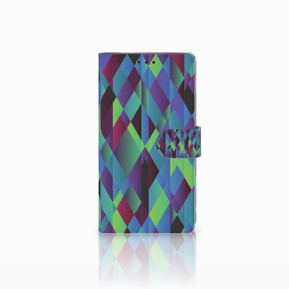 Sony Xperia XA2 Ultra Bookcase Abstract Green Blue