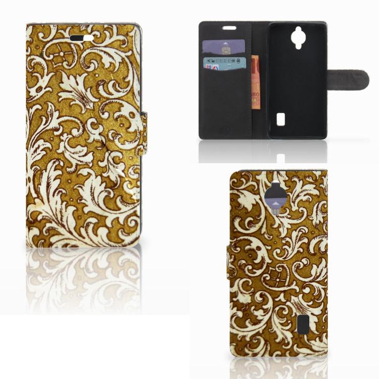 Wallet Case Huawei Y635 Barok Goud