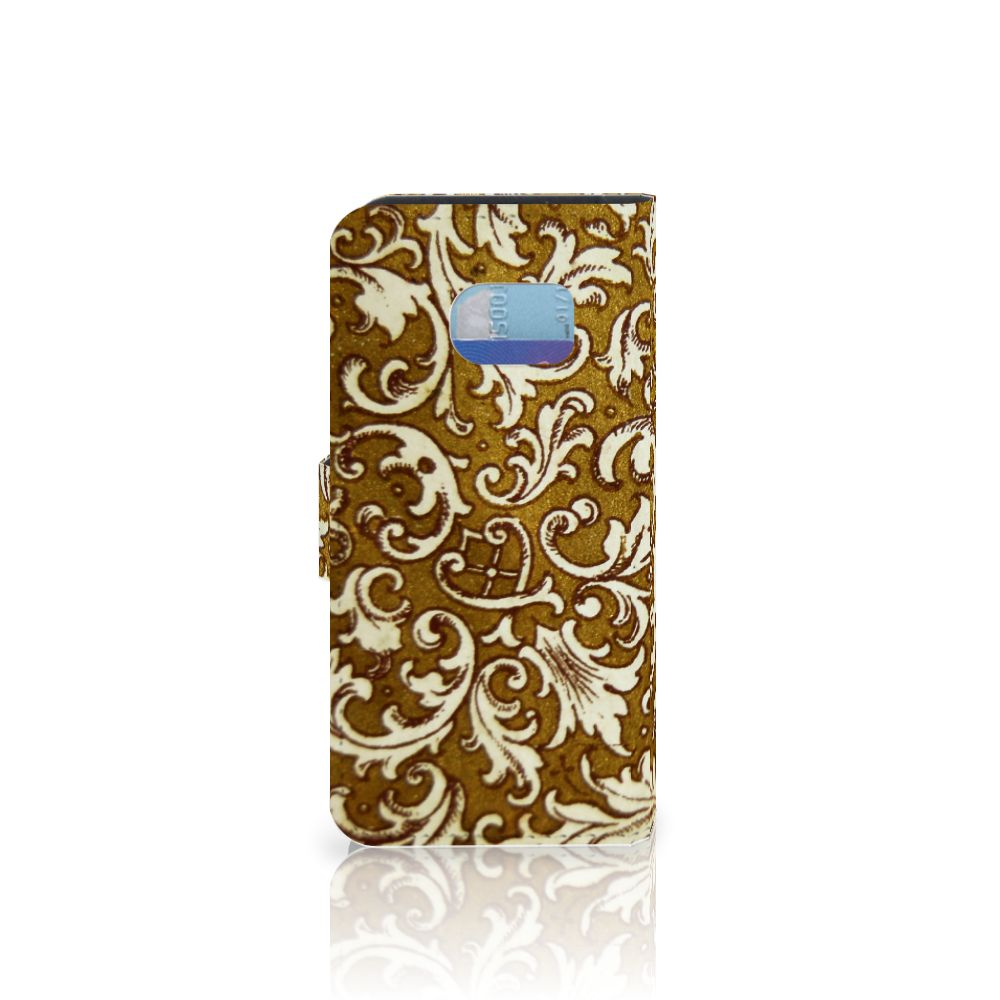 Wallet Case Samsung Galaxy S6 Edge Barok Goud