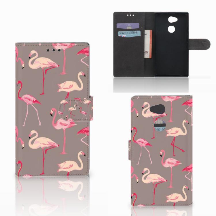 Sony Xperia L2 Telefoonhoesje met Pasjes Flamingo