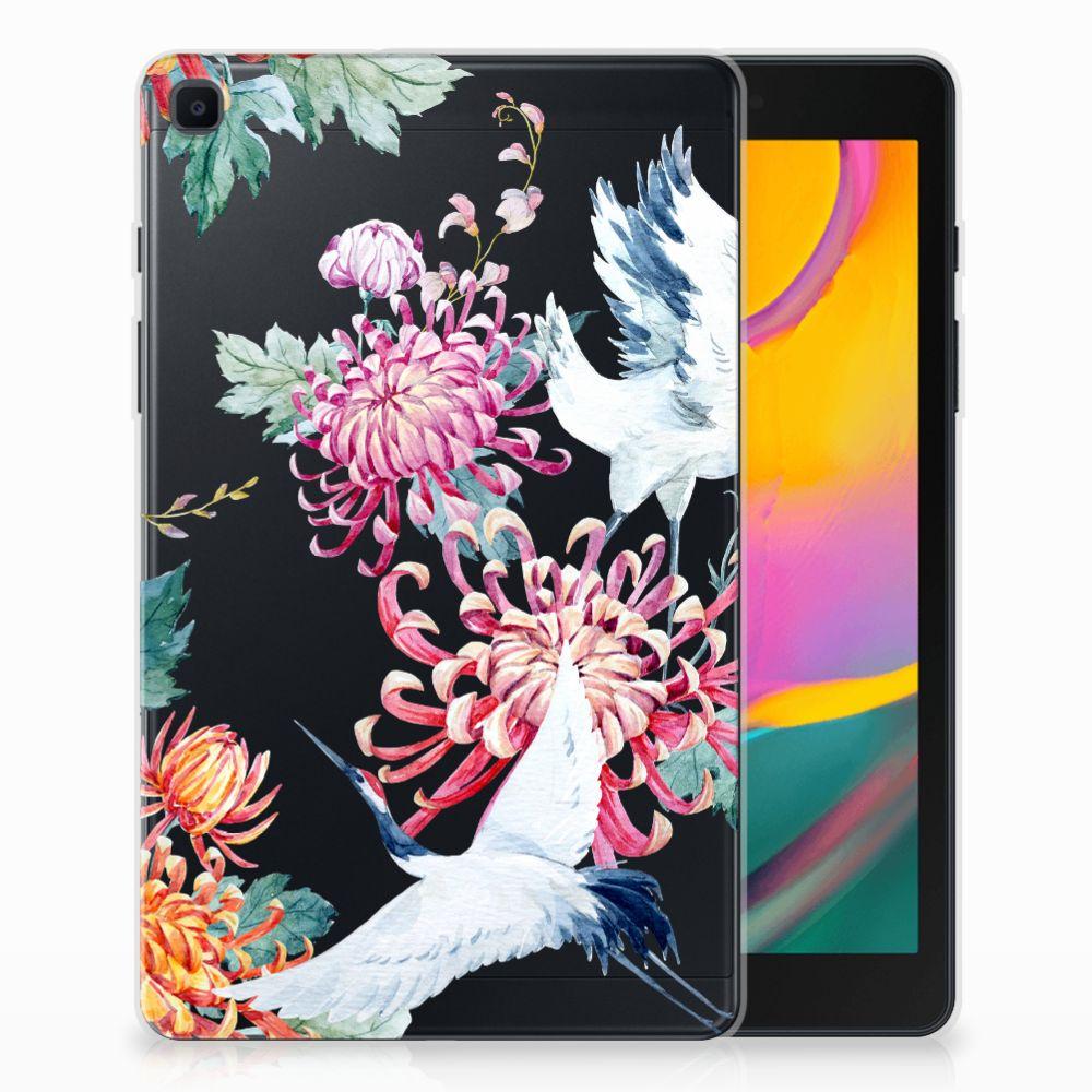 Samsung Galaxy Tab A 8.0 (2019) Back Case Bird Flowers