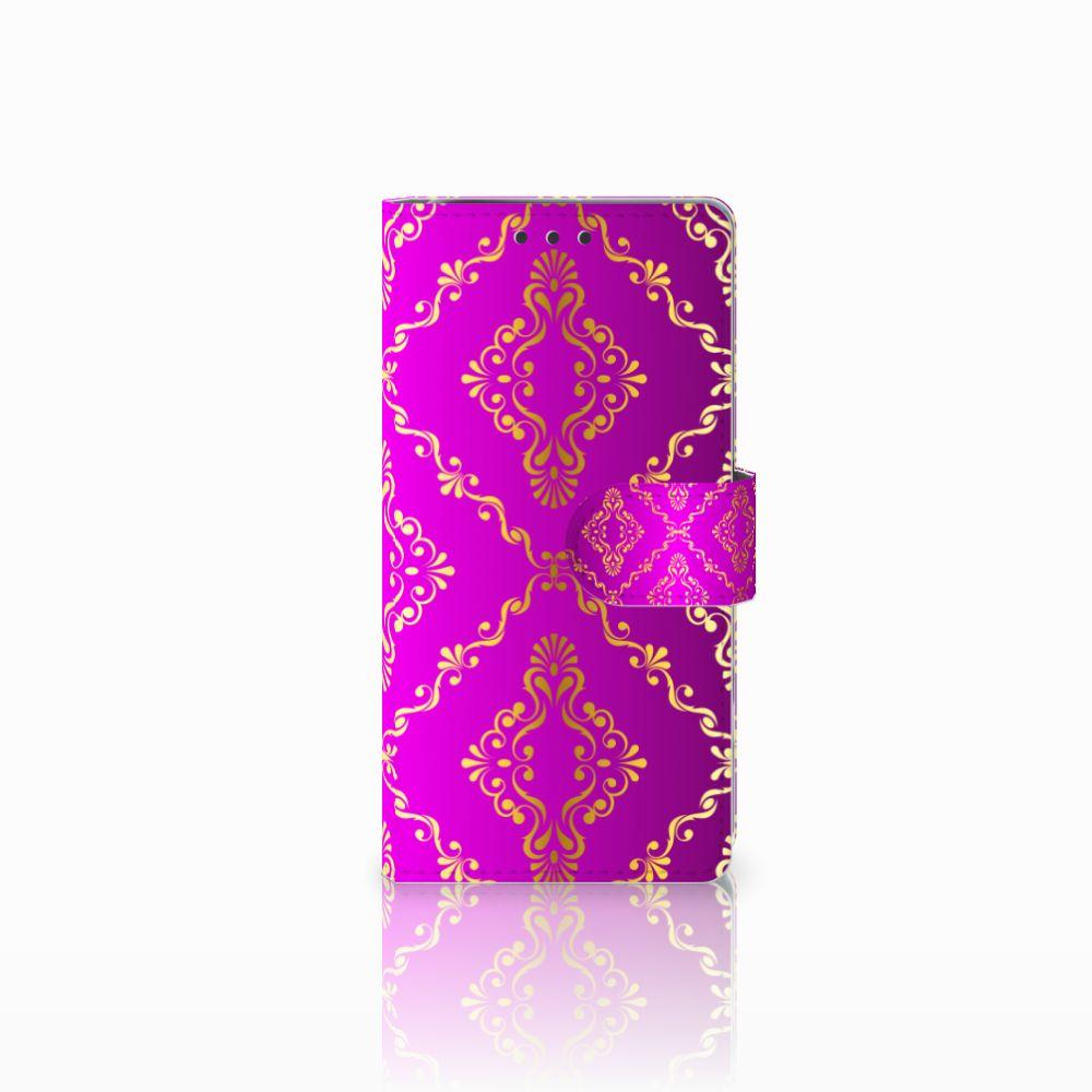 Sony Xperia X Performance Uniek Boekhoesje Barok Roze