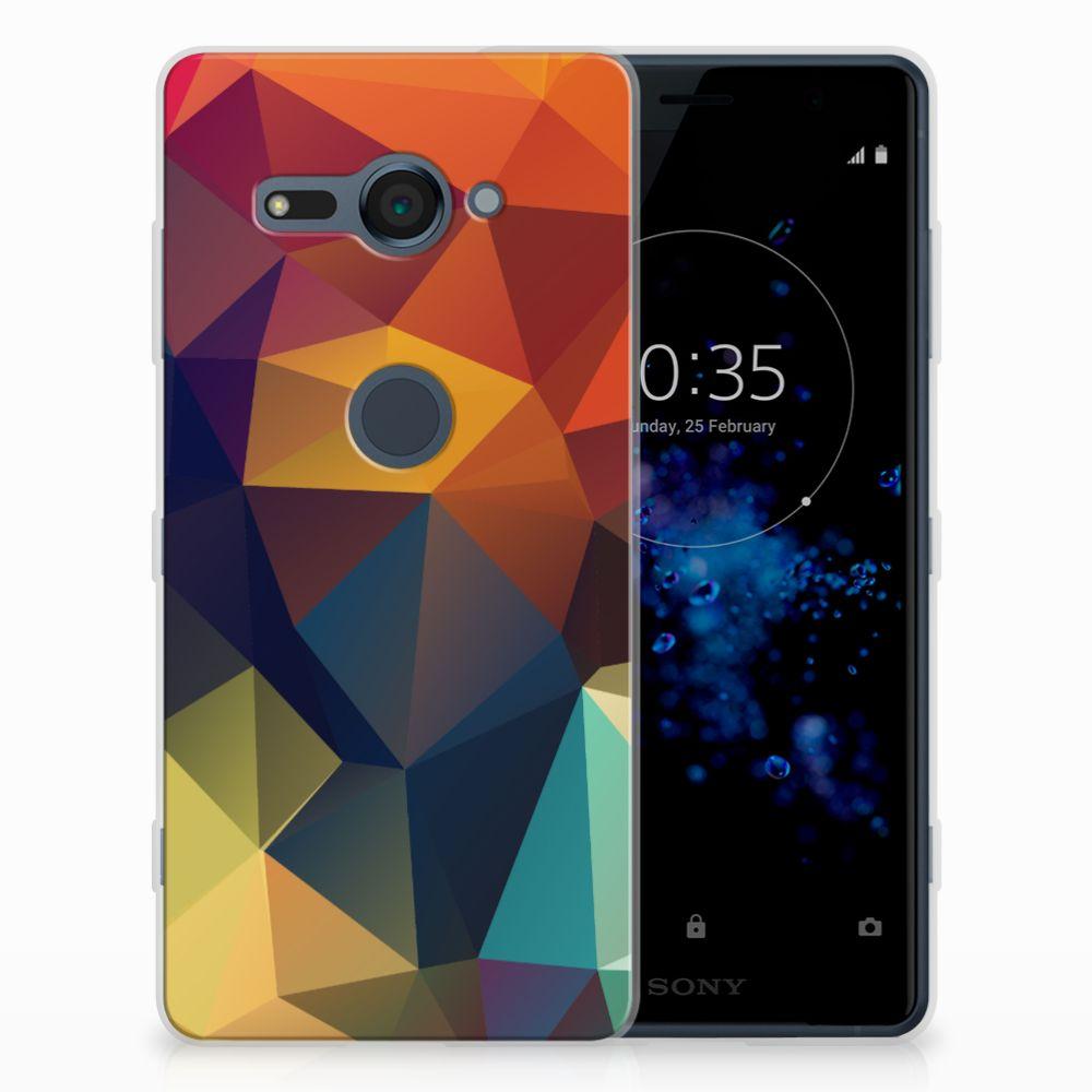 Sony Xperia XZ2 Compact TPU Hoesje Polygon Color