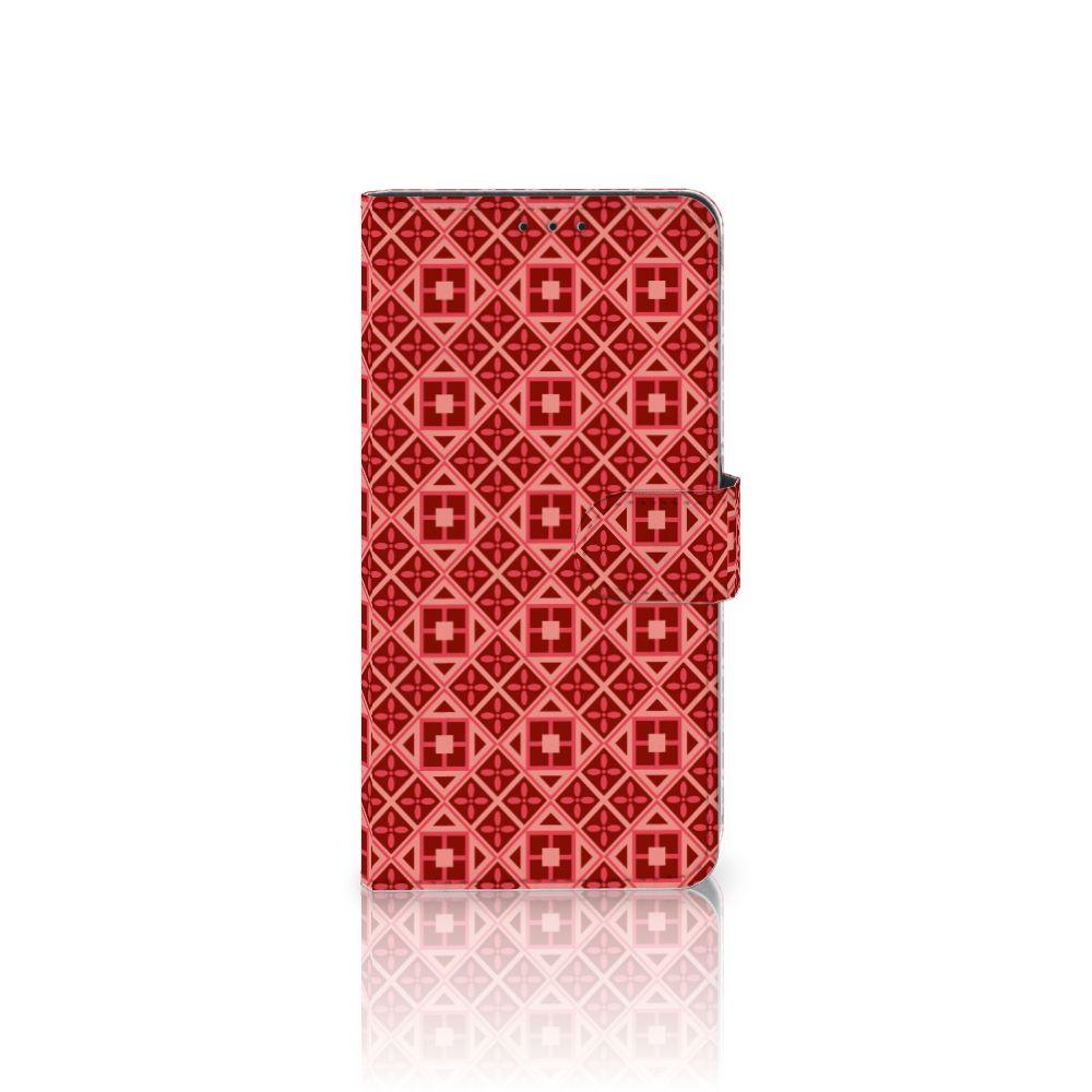 Samsung Galaxy A8 Plus (2018) Uniek Boekhoesje Batik Red
