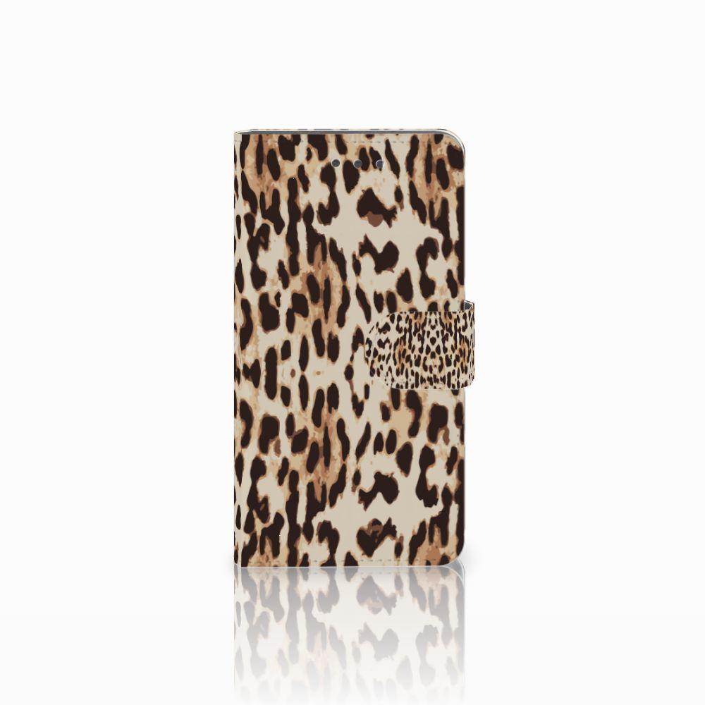 Wiko Fever (4G) Uniek Boekhoesje Leopard