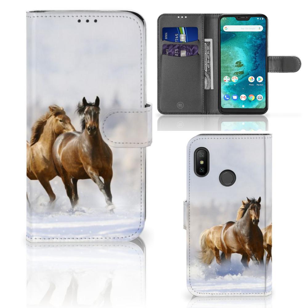 Xiaomi Mi A2 Lite Telefoonhoesje met Pasjes Paarden