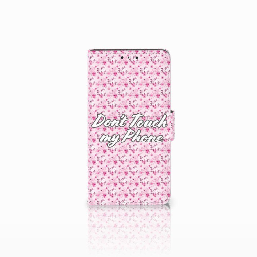 Huawei Y5   Y6 2017 Uniek Boekhoesje Flowers Pink DTMP