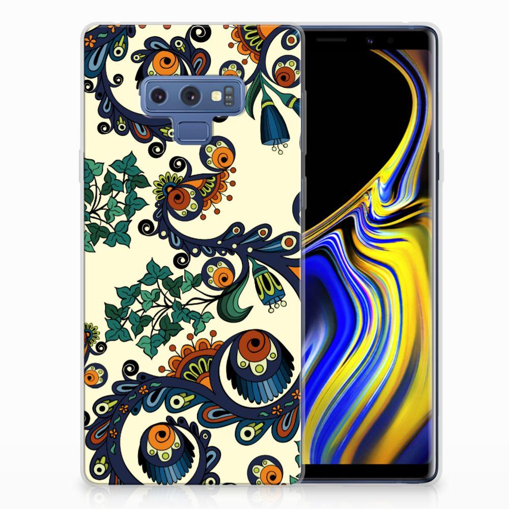 Siliconen Hoesje Samsung Galaxy Note 9 Barok Flower