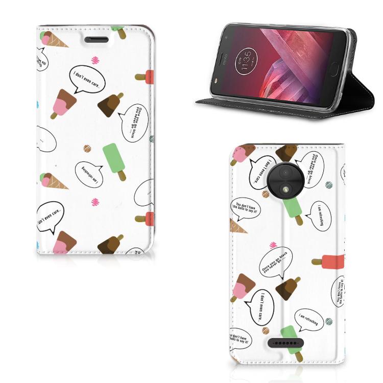 Motorola Moto C Flip Style Cover IJsjes