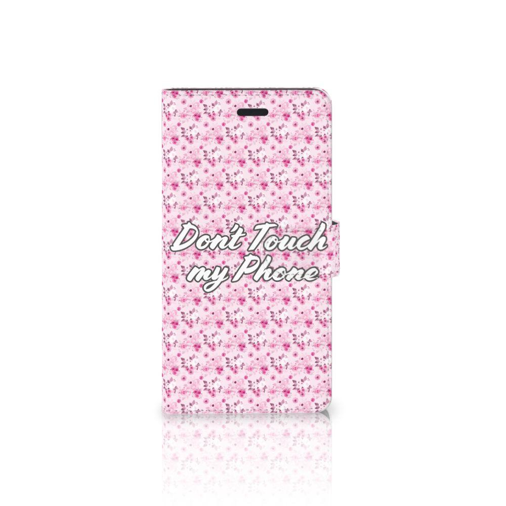 Samsung Galaxy A7 2017 Uniek Boekhoesje Flowers Pink DTMP