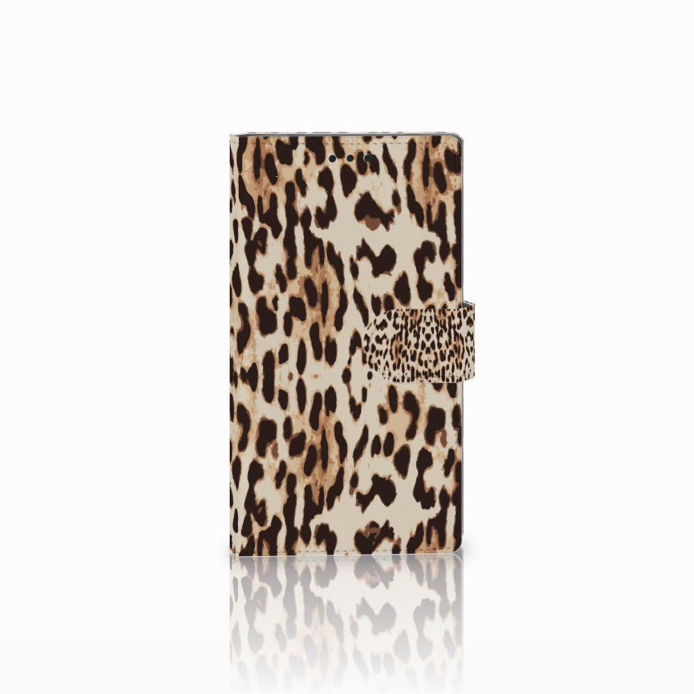 Sony Xperia L2 Uniek Boekhoesje Leopard