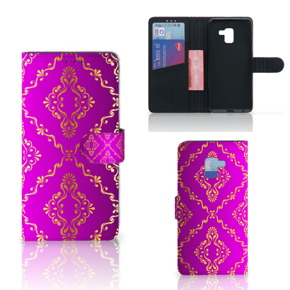 Wallet Case Samsung Galaxy A8 Plus (2018) Barok Roze