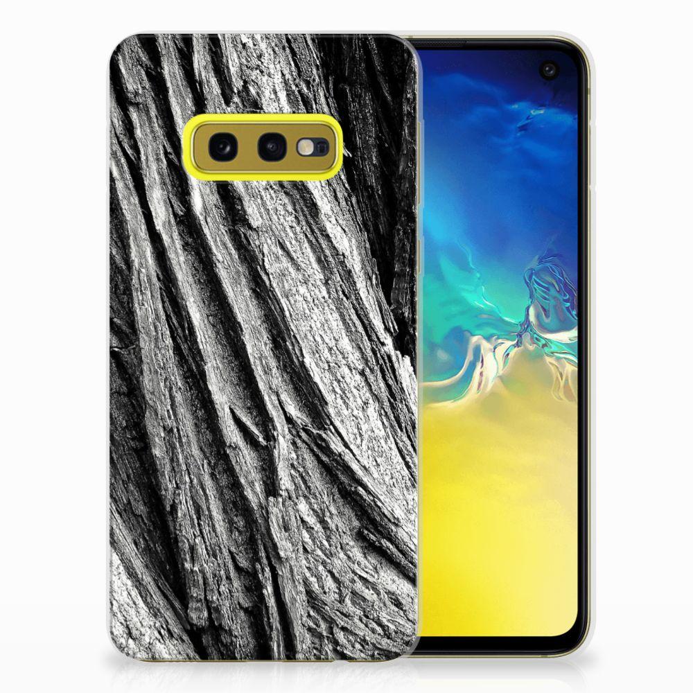 Bumper Hoesje Samsung Galaxy S10e Boomschors Grijs
