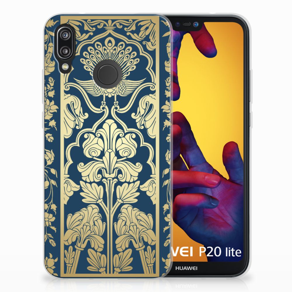 Huawei P20 Lite TPU Case Golden Flowers