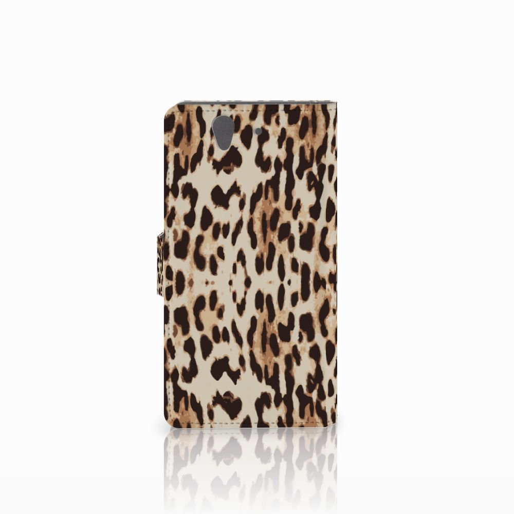 Sony Xperia Z Telefoonhoesje met Pasjes Leopard