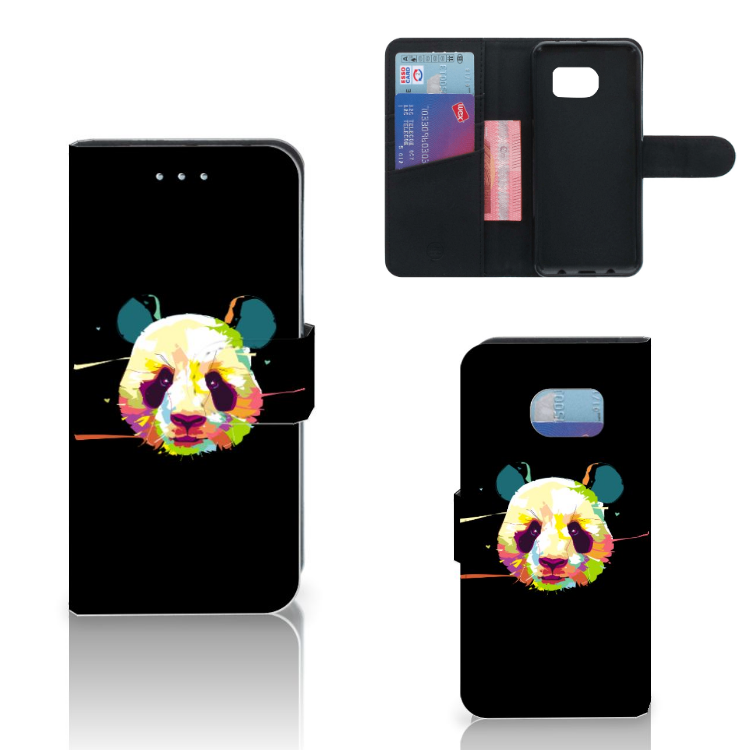 Samsung Galaxy S6 Edge Leuke Hoesje Panda Color