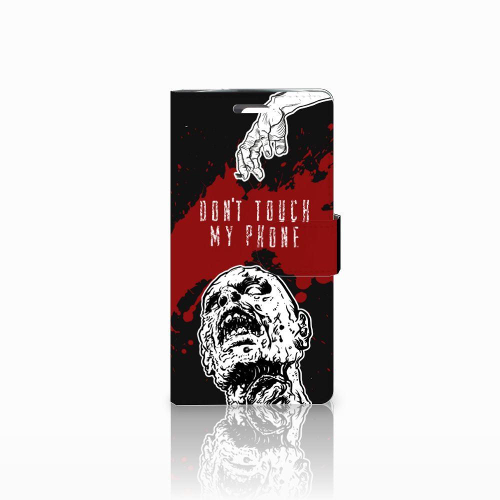 LG K10 2015 Portemonnee hoesje Zombie Blood