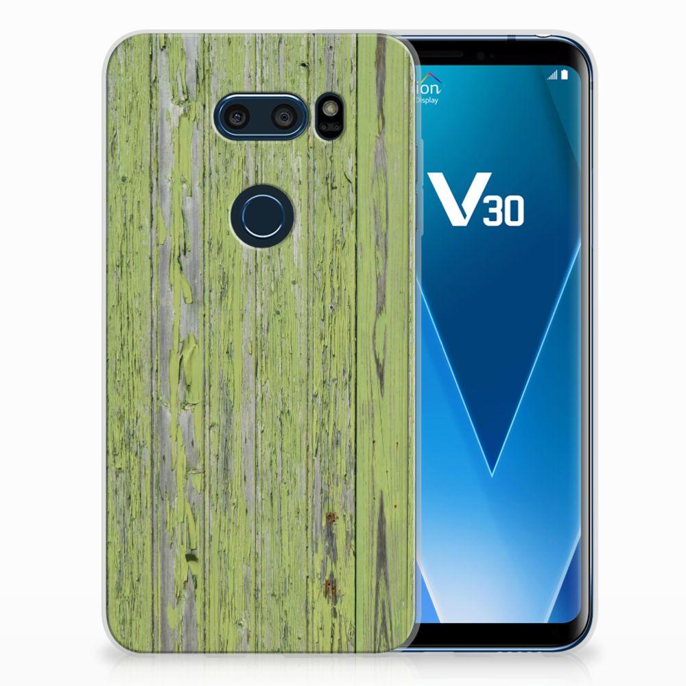 LG V30 Bumper Hoesje Green Wood