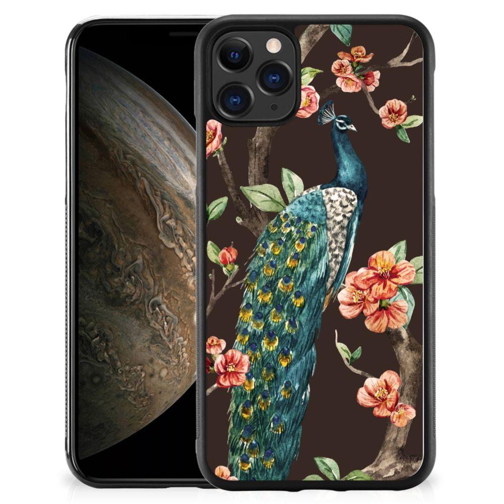 Apple iPhone 11 Pro Back Cover Pauw met Bloemen