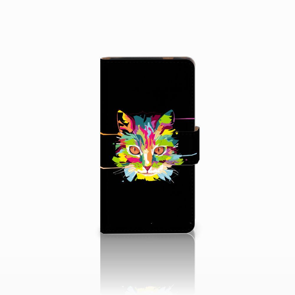 HTC Desire 601 Uniek Boekhoesje Cat Color