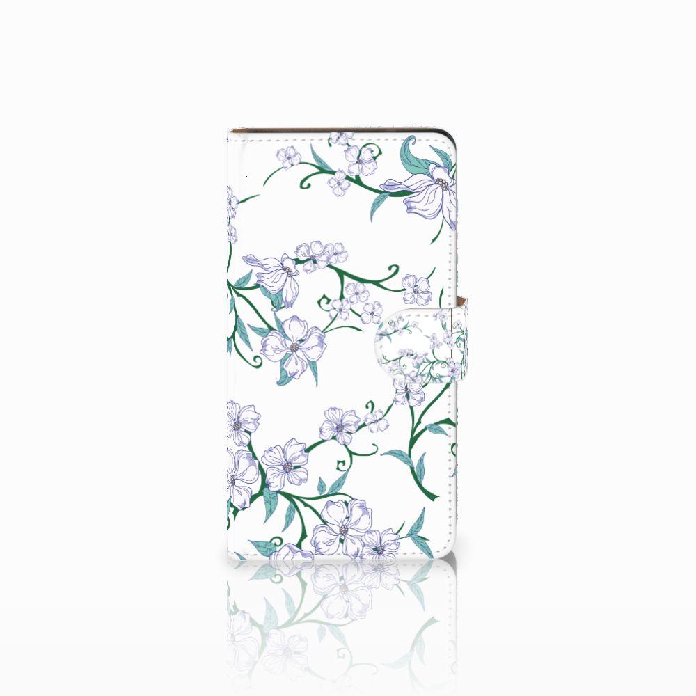 Huawei Ascend G700 Uniek Boekhoesje Blossom White