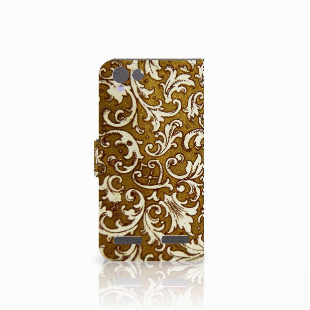 Wallet Case Lenovo Vibe K5 Barok Goud