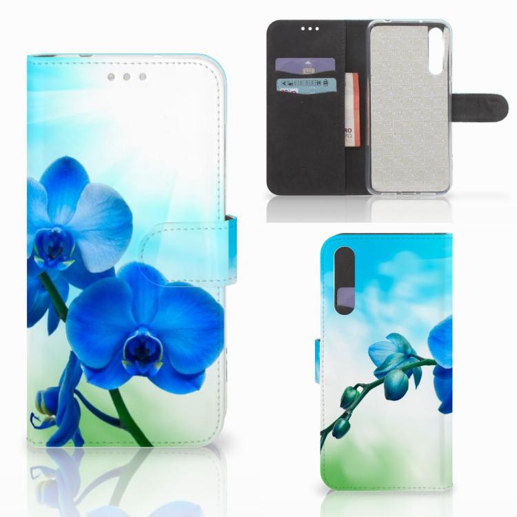 Huawei P20 Pro Hoesje Orchidee Blauw - Cadeau voor je Moeder