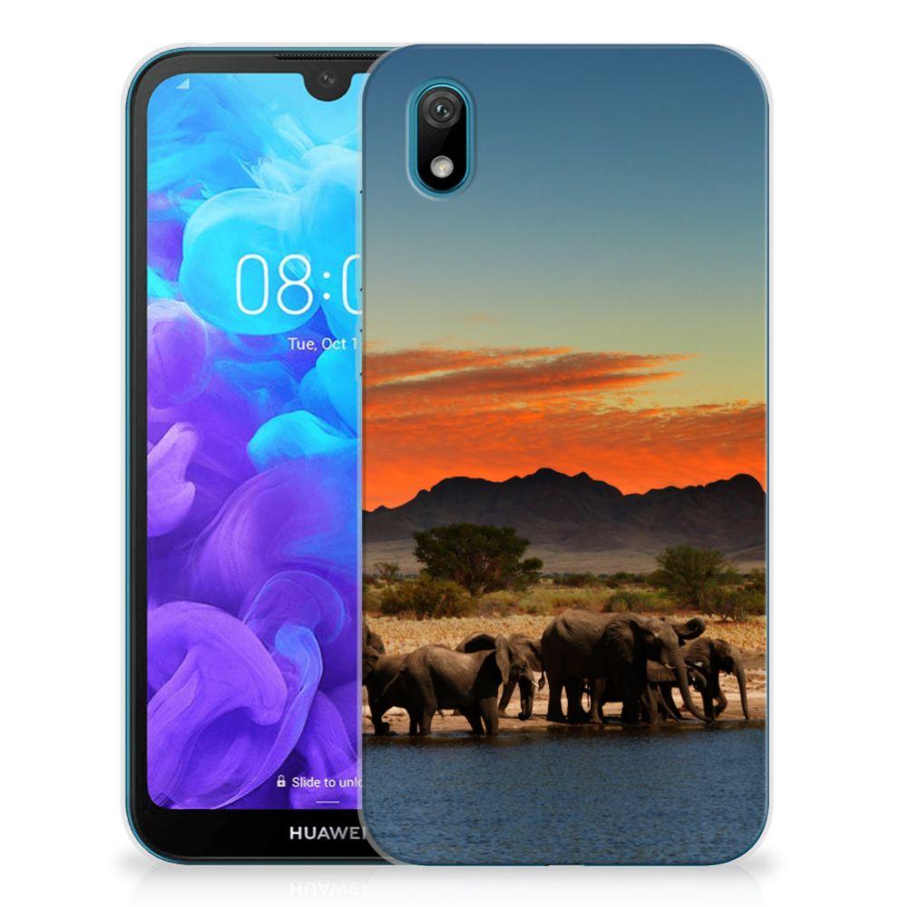 Huawei Y5 (2019) TPU Hoesje Olifanten