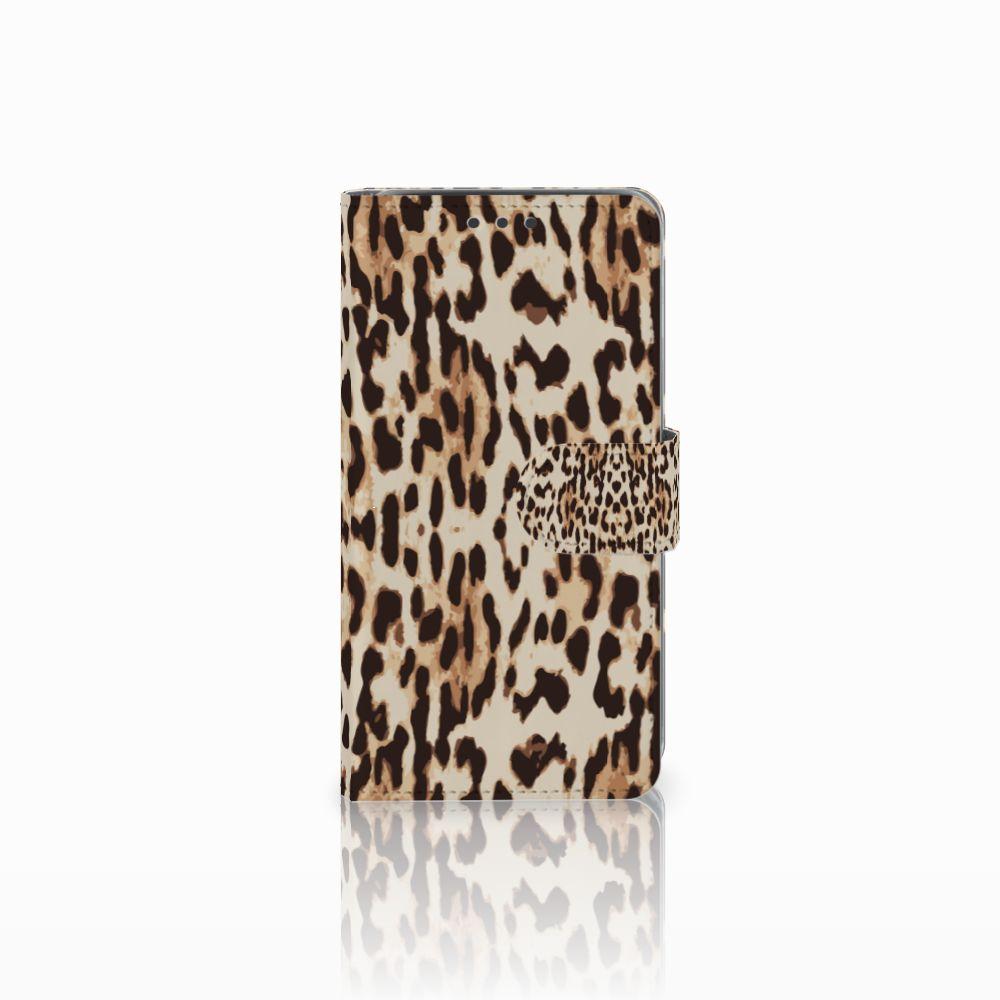 Samsung Galaxy J5 (2015) Uniek Boekhoesje Leopard