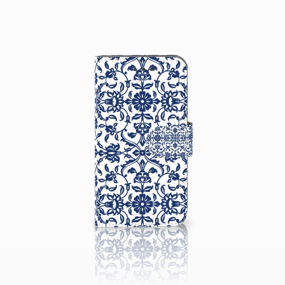 Samsung Galaxy Xcover 3 | Xcover 3 VE Uniek Boekhoesje Flower Blue