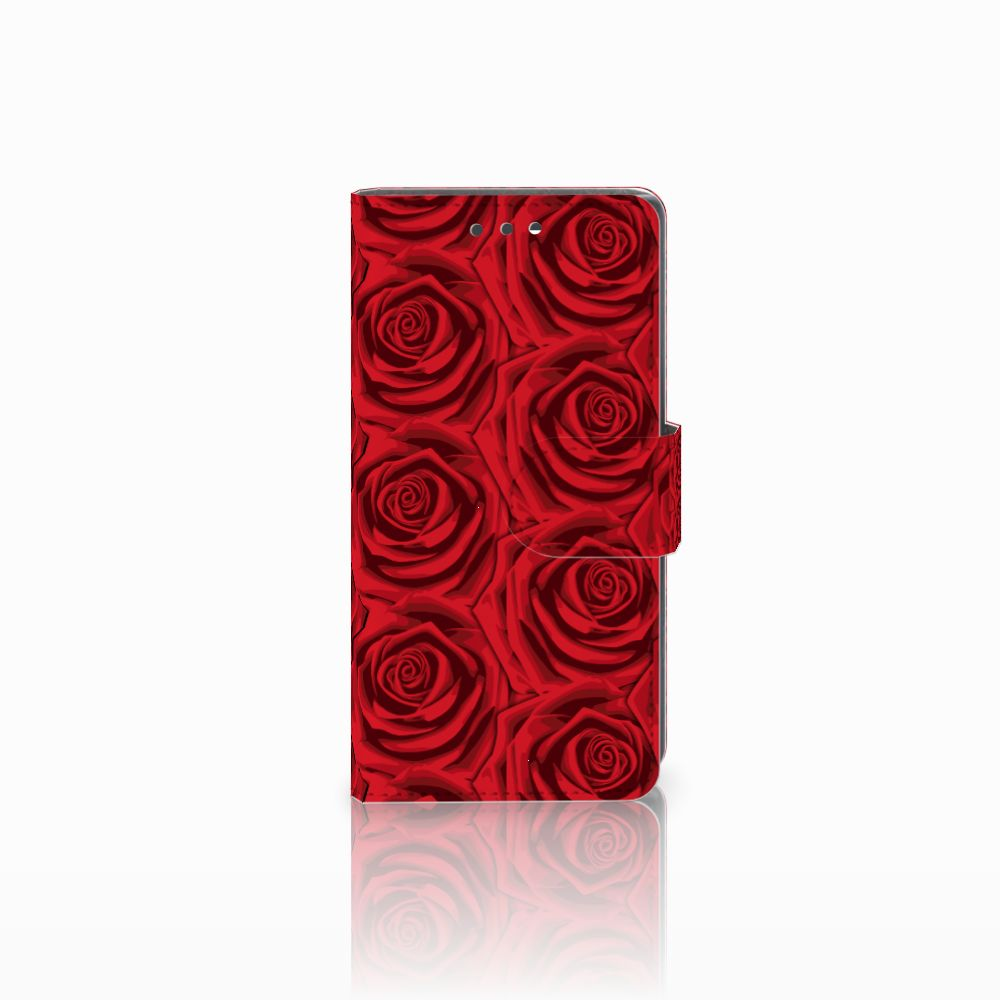 Sony Xperia X Compact Uniek Boekhoesje Red Roses