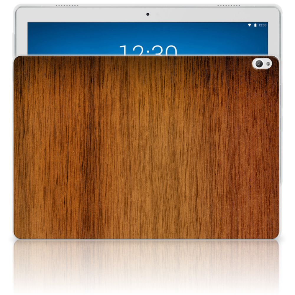 Lenovo Tab P10 Silicone Tablet Hoes Donker Hout