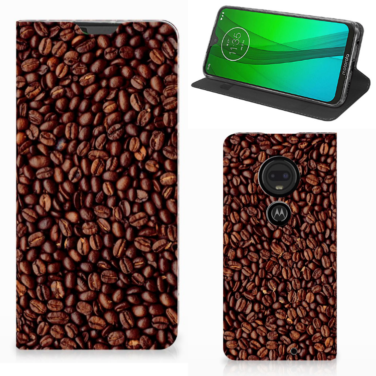 Motorola Moto G7 | G7 Plus Flip Style Cover Koffiebonen