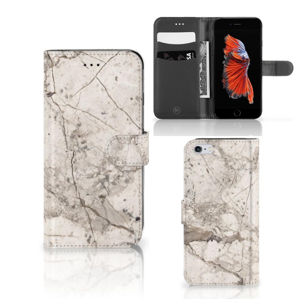Apple iPhone 6 Plus | 6s Plus Bookcase Marmer Beige