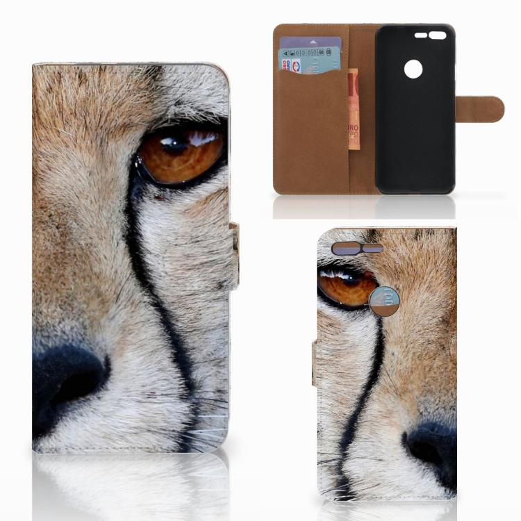 Google Pixel XL Telefoonhoesje met Pasjes Cheetah