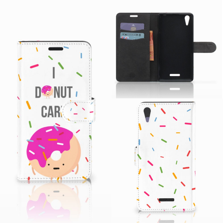Sony Xperia T3 Book Cover Donut Roze