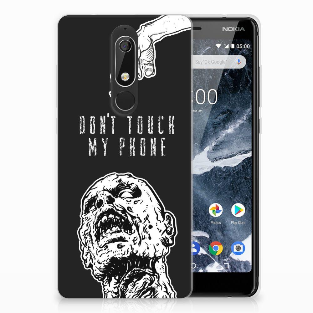 Nokia 5.1 (2018) Uniek TPU Hoesje Zombie