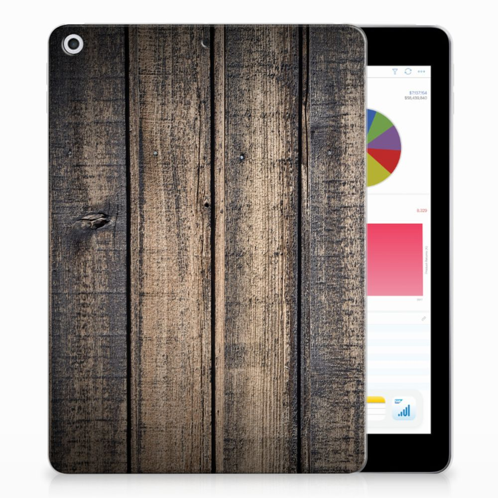 Apple iPad 9.7 2018 | 2017 Silicone Tablet Hoes Steigerhout