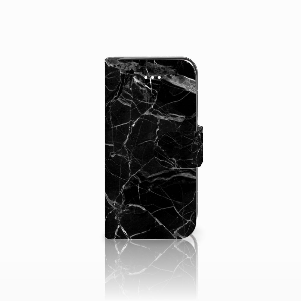 Apple iPhone 5 | 5s | SE Boekhoesje Marmer Zwart