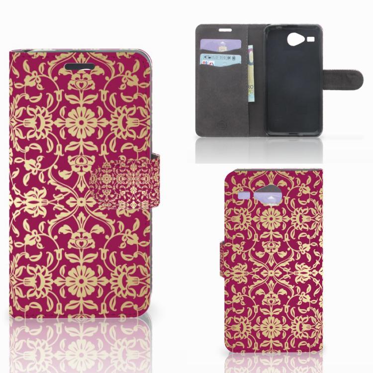 Wallet Case Acer Liquid Z520 Barok Pink